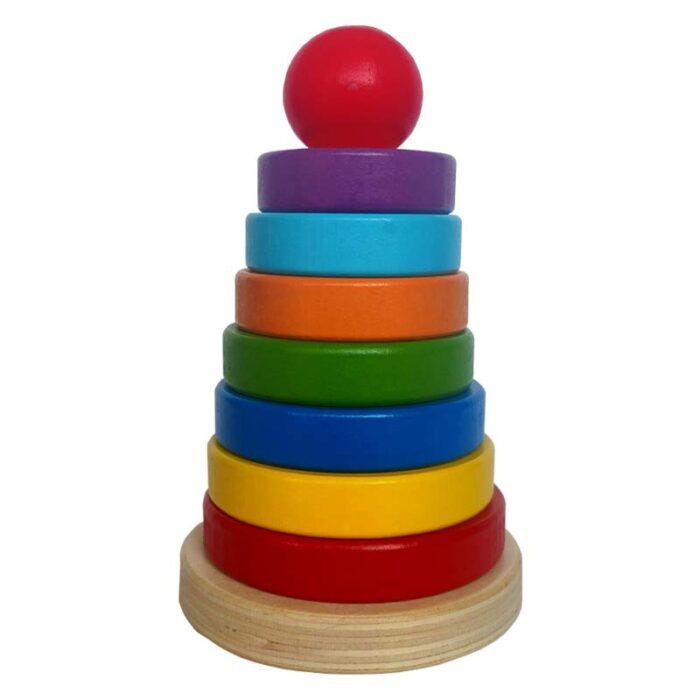 Монтесори дървена кула - Rainbow tower цяла кула