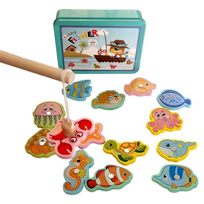 Образователна игра Funny Fisher кутия въдица и улов