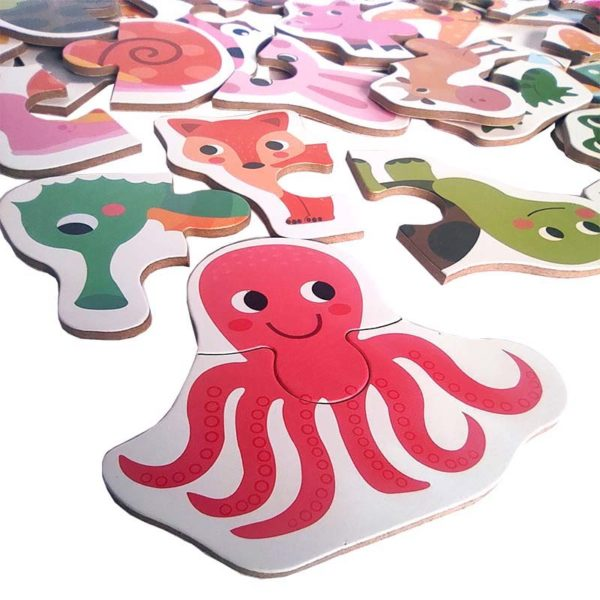 Пъзел с животни октопод