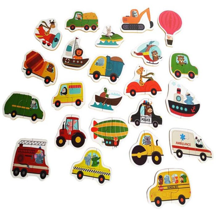 Пъзели с превозни средства 23 пъзела