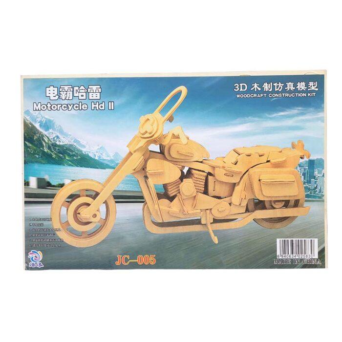 3D Дървен пъзел - Мотоциклет HD II