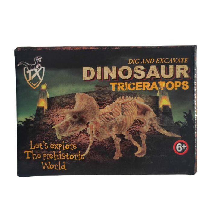 Изкопай скелет на динозавър - Трицератопс