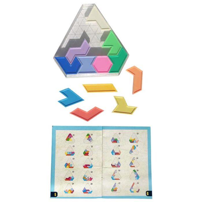 Логическа игра геометрични фигури елементи и книжка