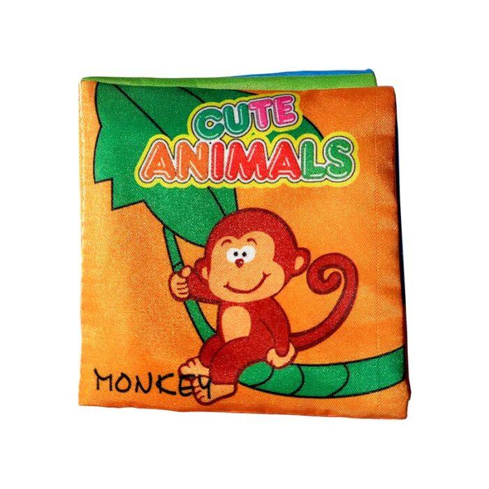 Мека книжка за бебета - Животни маймунка