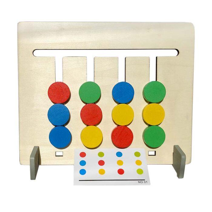 Монтесори игра-Цветове и Плодове (Образователна игра) цветове