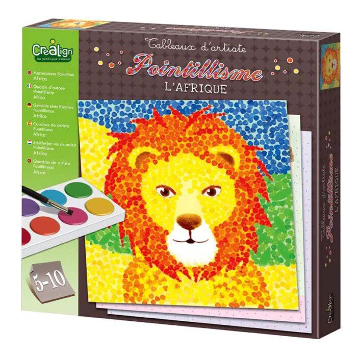 """Творчески комплект за рисуване """"Поантилизъм"""" – Африка кутия"""