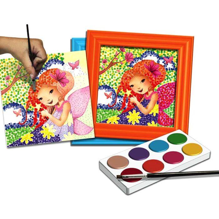 """Творчески комплект за рисуване """"Поантилизъм"""" – Пролетни феи"""