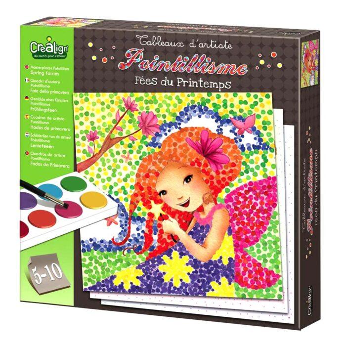 """Творчески комплект за рисуване """"Поантилизъм"""" – Пролетни феи кутия"""