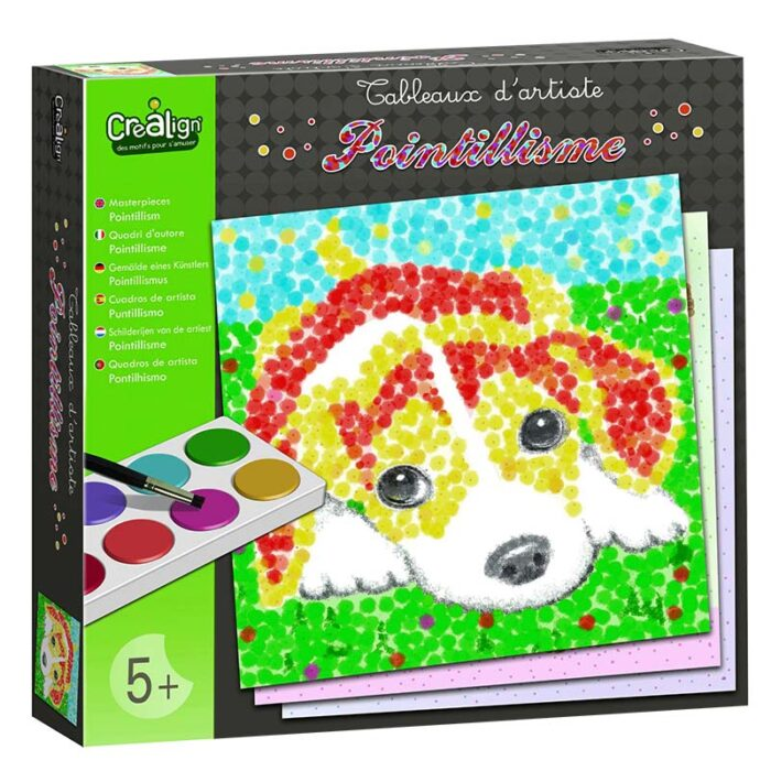 Творчески комплект за рисуване Поантилизъм - Животни