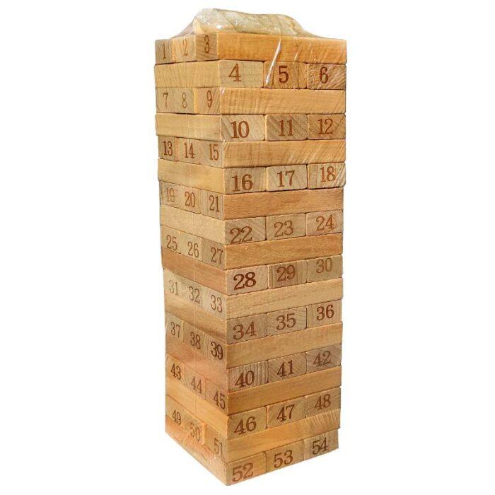 Дженга с цифри 54 елемента
