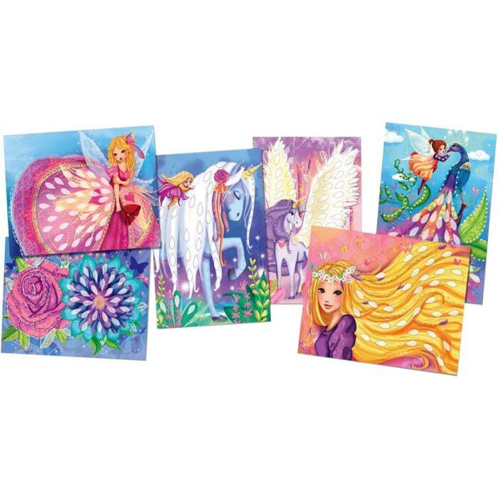 Детски творчески комплект - Блестящи феи картини