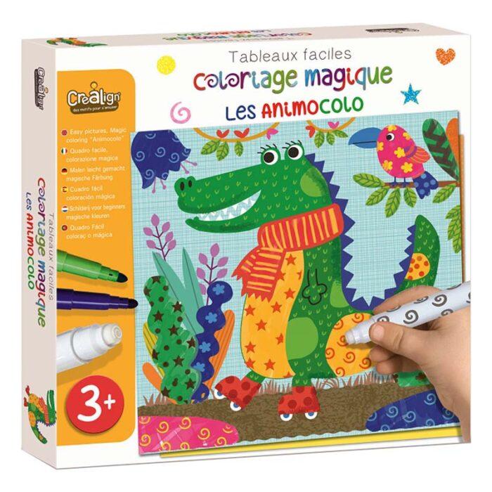 Комплект за оцветяване с магически маркери - Животни кутия