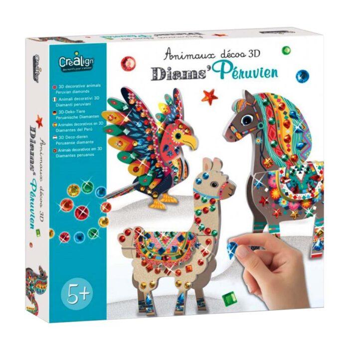 Направи 3D декоративни животни Перуански диаманти