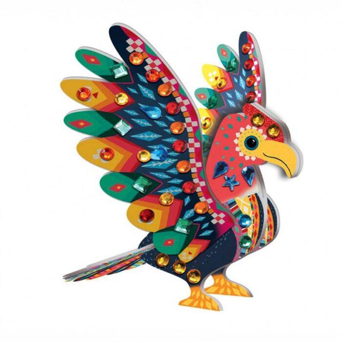 Направи 3D декоративни животни Перуански диаманти птица