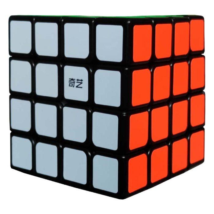 Рубик куб 4x4x4 QiYi Speed Cube бяла и оранжева страна