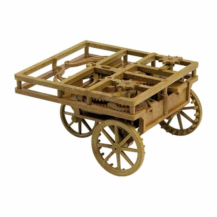3D модели - Леонардо да Винчи - Самоходна количка сглобена