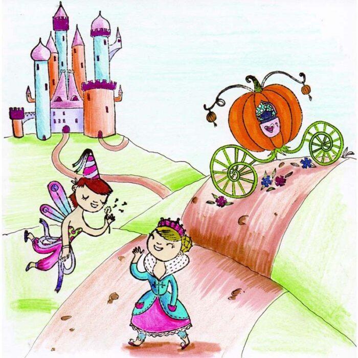 Детски творчески комплект – Принцеси и Феи рисунка с печати