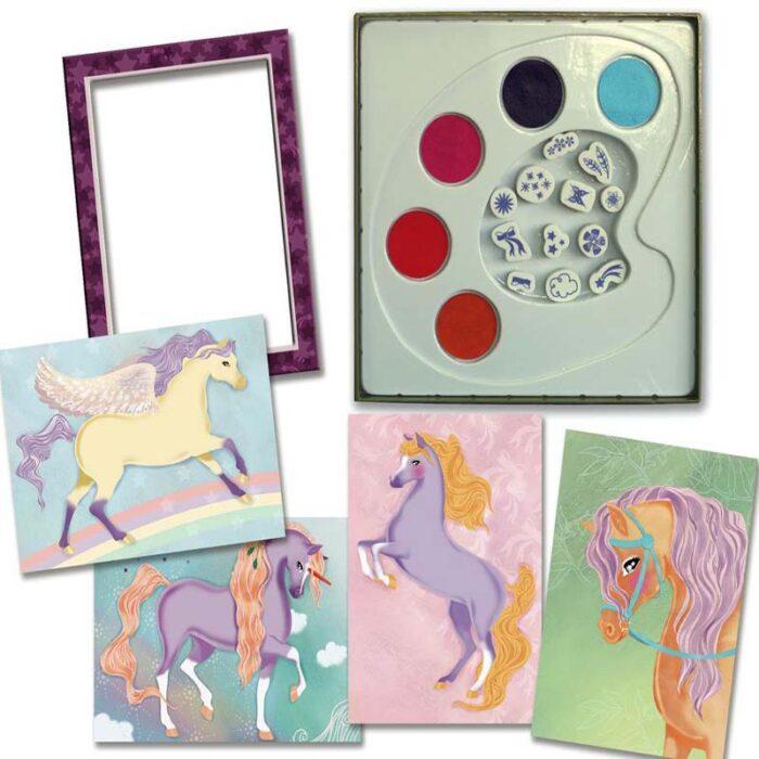 Картички с печати - Кончета картини и палитра