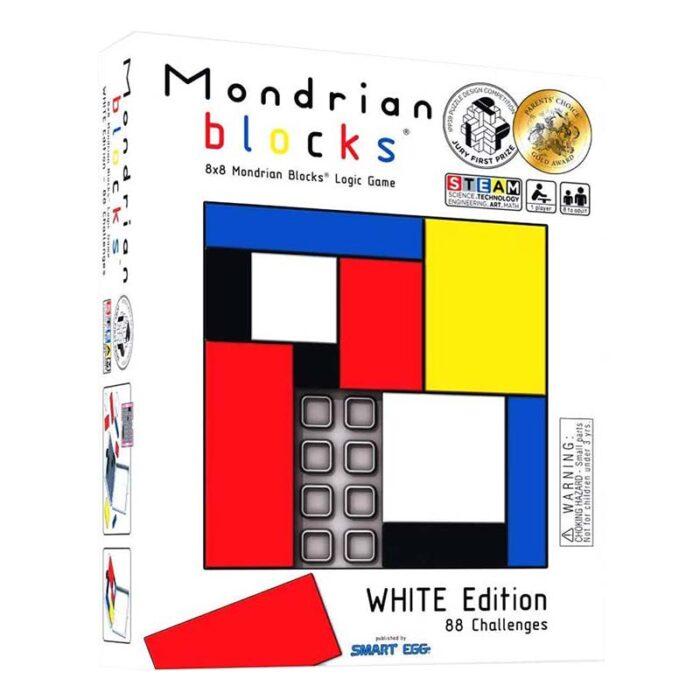 Логическа игра – Мондрианови блокчета – Бяло издание