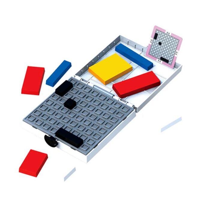 Логическа игра – Мондрианови блокчета – Бяло издание кутия блокове и задача