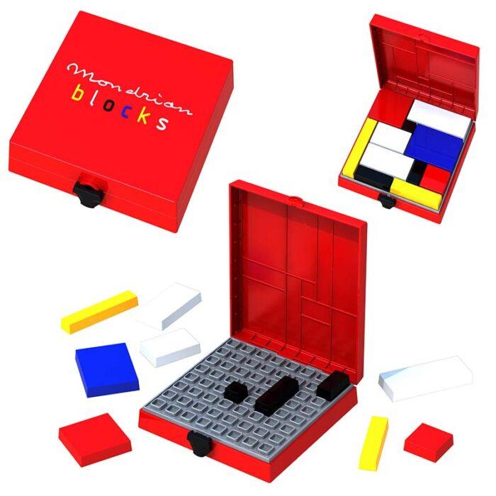 Логическа игра – Мондрианови блокчета – Червено издание 3 етапа