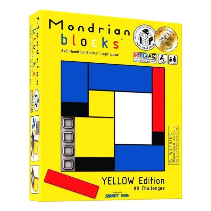 Логическа игра – Мондрианови блокчета – Жълто издание