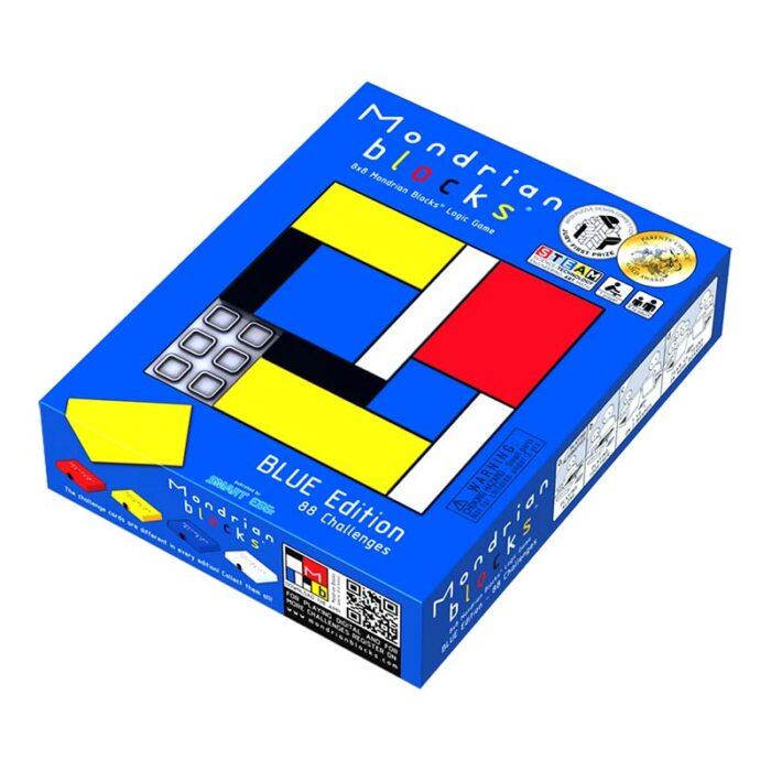 Логическа игра - Мондрианови блокчета - Синьо издание