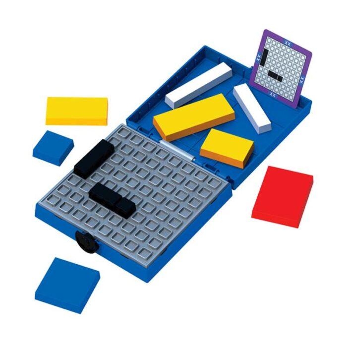 Логическа игра - Мондрианови блокчета - Синьо издание кутия с елементи и задачи
