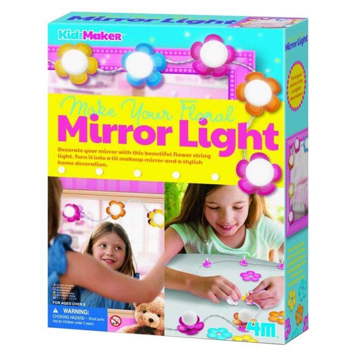 Направи си сам - Лампички цветя за огледало