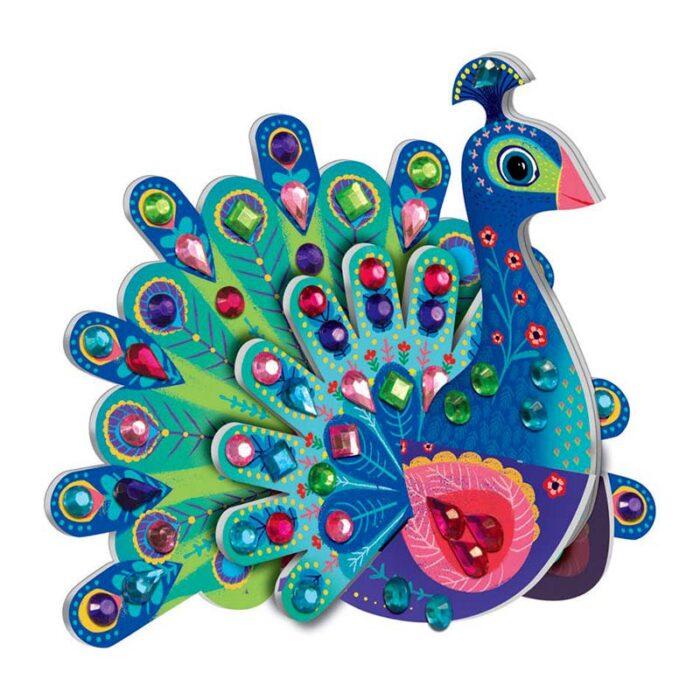 Творчески комплект - Фантастични животни с мъниста - Сглоби и декорирай паун