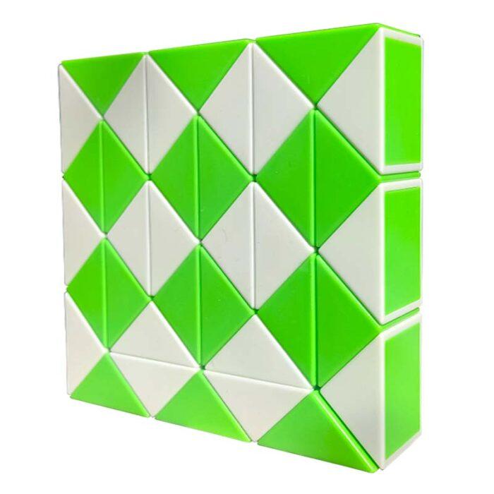 Змия на Рубик – 36 елемента зелена профил