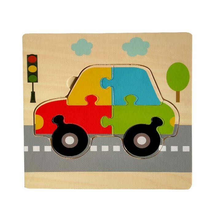 Дървен пъзел за деца - Кола