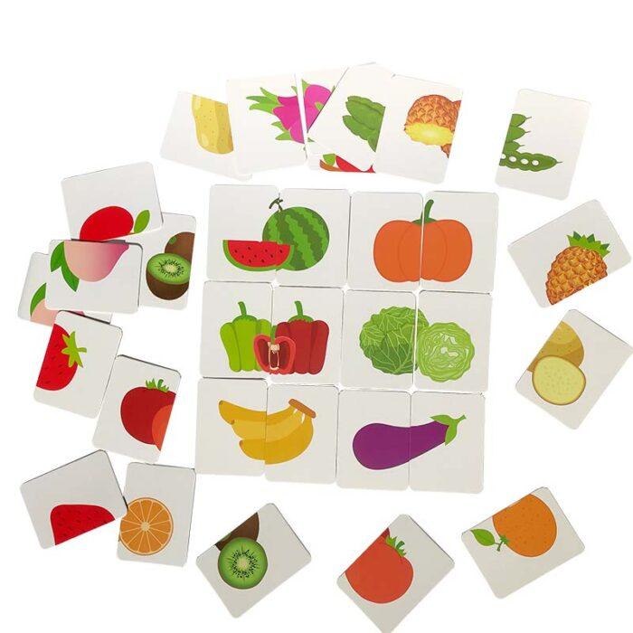 Образователни карти - Плодове и зеленчуци цяла картина