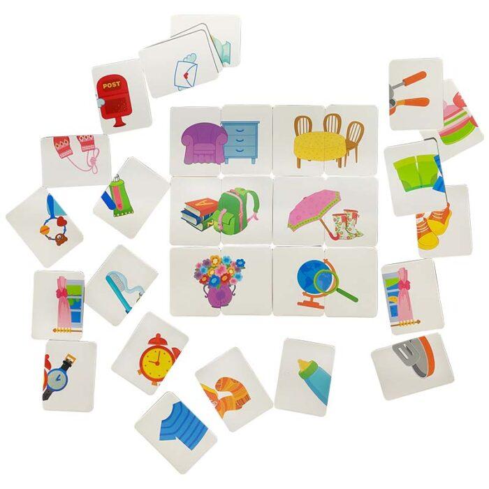 Образователни карти - Предмети от дома двойка карти