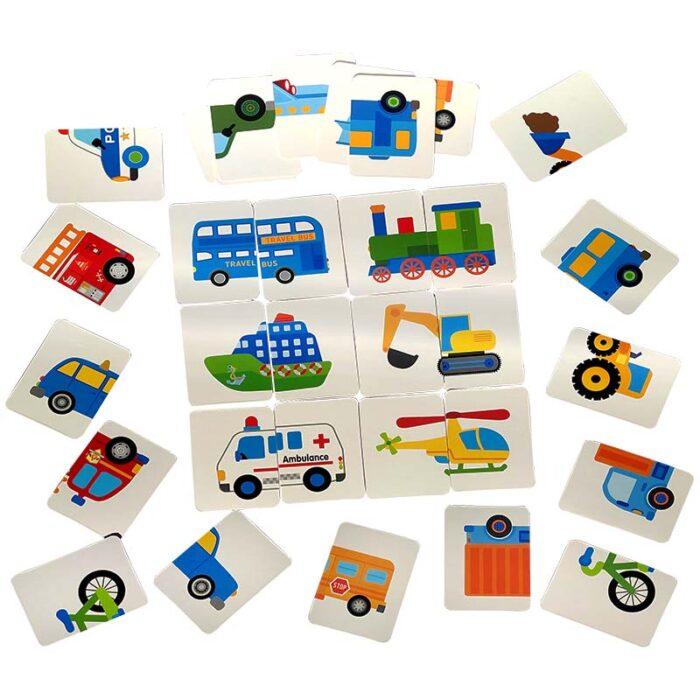 Образователни карти - Превозни средства двайка карти