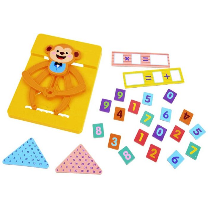 Образователна игра - Математическа маймунка (Игра за смятане) шаблони